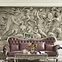 billige Trykk-Art Deco 3D Hjem Dekor Moderne Tapetsering, Lerret Materiale selvklebende nødvendig Veggmaleri, Tapet