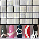 billige Negle Sticker-24 pcs Franske design tips Negle kunst Manicure Pedicure Mode Daglig / Fransk Tips Guide