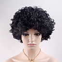cheap Synthetic Capless Wigs-Synthetic Wig Curly Synthetic Hair Black Wig Women's Short Capless