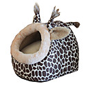 cheap Dog Beds & Blankets-Cat Dog Bed Pet Cushion & Pillows Leopard Foldable Breathable Soft Leopard For Pets