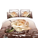 cheap 3D Duvet Covers-Duvet Cover Sets Floral Polyester Reactive Print 4 Piece