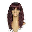 cheap Synthetic Capless Wigs-Synthetic Wig Women's Kinky Curly Red With Bangs Synthetic Hair Red Wig Capless Dark Auburn