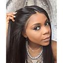 olcso Emberi hajból készült parókák-Emberi haj Csipke korona, szőtt Csipke Paróka Brazil haj Egyenes Paróka 130% Haj denzitás 8-26 hüvelyk baba hajjal Természetes hajszálvonal Afro-amerikai paróka 100% kézi csomózású Női Rövid Közepes