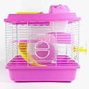baratos Acessórios para Pequenos Animais-Roedores Hamster Plástico Gaiolas Café Azul Rosa claro