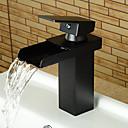 hesapli Sprinkle® Lavabo Muslukları-Banyo Lavabo Bataryası - Şelale Yağlı Bronz Tek Gövdeli Tek Kolu Bir Delik