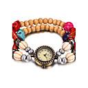 preiswerte Armband-Uhren-REBIRTH Damen Armband-Uhr / Armbanduhr Wasserdicht Holz Band Freizeit / Modisch Rot / Braun / Grün
