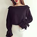 رخيصةأون باروكات كابلس صناعية-للمرأة قميص عمل سادة باتو كم مضيئة