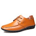 abordables Joyería para Hombre-Hombre Los zapatos de cuero Cuero Primavera / Verano / Otoño Oxfords Impermeable Negro / Amarillo / Marrón / Fiesta y Noche
