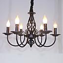 preiswerte Kronleuchter-6-Licht Kronleuchter Raumbeleuchtung - Candle-Art, 110-120V / 220-240V Glühbirne nicht inklusive / 10-15㎡ / E12 / E14