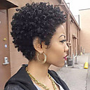 cheap Human Hair Capless Wigs-Short Natural Curly Human Hair Capless Wigs Human Hair Pixie Cut For Black Women Natural Black Short Machine Made Wig Women's