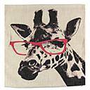 billige Putevar-1 stk Lin Putevar Putecover, Blomstret Dyremønster Grafiske trykk Still Life Med Tekstur Retro Rød