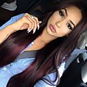 tanie Peruki z włosów ludzkich-Włosy naturalne remy Pełna siateczka Peruka Włosy brazylijskie Prosta Peruka 130% Gęstość włosów z Baby Hair Naturalna linia włosów Peruka afroamerykańska W 100% ręcznie wiązane Damskie Krótkie
