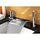 abordables Grifos de Lavabo-Grifo de bañera - Moderno Arte Decorativa / Retro Modern Cromo Muy Difundido Válvula Cerámica