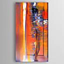 povoljno Apstraktno slikarstvo-Hang oslikana uljanim bojama Ručno oslikana - Pejzaž Moderna Uključi Unutarnji okvir / Prošireni platno