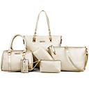 baratos Conjunto de Bolsas-Mulheres Bolsas PU Conjuntos de saco 6 Pcs Purse Set Tachas Preto / Bege / Azul
