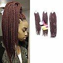 preiswerte Haarzöpfe-Geflochtenes Haar Senegal Twist Braids / Echthaar Haarverlängerungen Synthetische Haare 81 Wurzeln Haar Borten Alltag