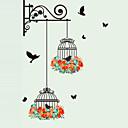 billige Veggklistremerker-Dyr Mote Botanisk Veggklistremerker Fly vægklistermærker Dekorative Mur Klistermærker, Vinyl Hjem Dekor Veggoverføringsbilde Vegg Glass /