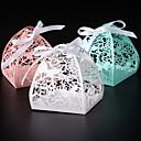 olcso Köszönetajándék tartók-Kör Négyzet Kreatív Gyöngy-papír Favor Holder val vel Szalagok Nyomtatás Ajándék dobozok