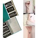 baratos Tinta Corporal Temporária-Stencils para Tatuagem com Purpurina-other-Tatuagem com Gliter-não tóxica Estampado- paraAdulto- dePapel-Preta