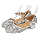 cheap Modern Shoes-Latin Shoes Lace / Sparkling Glitter / Paillette Flat / Sandal / Heel Indoor / Performance / Practice Rhinestone / Crystal / Beading Low