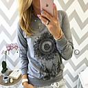 Mujer Chic de Calle Tallas Grandes Estampado - Algodón Camiseta Geométrico Manga Mariposa