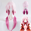 cheap Synthetic Capless Wigs-yuzuriha inori cosplay wig guilty crown heat resistant synthetic long straight hair custome wig high quality wave party wig pink ombre hair Halloween