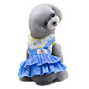 cheap Dog Clothes-Dog Dress Dog Clothes Polka Dot Yellow Blue Cotton Costume For Pets Women's Cute Fashion