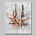 preiswerte Abstrakte Gemälde-Hang-Ölgemälde Handgemalte - Landschaft / Abstrakte Landschaft Modern / Europäischer Stil Segeltuch
