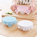 cheap Wall Stickers-1Pcs New Multi-Functional Silicone Saran Wrap Reusable Cling Film Refrigerator Food Storage Cover Kitchen Vacuum Lid Sealer  Random  Color