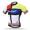 cheap Cycling Jerseys-XINTOWN Men's Short Sleeve Cycling Jersey - Yellow Bike Jersey Top, Quick Dry Breathable Back Pocket, Spring Summer Fall, Terylene / Stretchy / Sweat-wicking