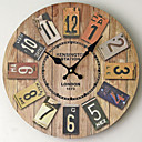 baratos Relógios de Parede Rústicos-Moderno/Contemporâneo Madeira Plástico Outros AA