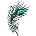 billige Nåler og brosjer-Kubisk Zirkonium Nåler - Kubisk Zirkonium, Strass Brosje Rose / Rød / Grønn Til Bryllup / Fest / Spesiell Leilighet / Daglig