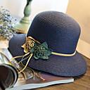 זול נרות ופמוטים-כובע קש כובע שמש - אחיד סגנון רחוב בגדי ריקוד נשים