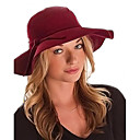 cheap Earrings-Women's Vintage / Casual Wool Fedora Hat - Solid Colored