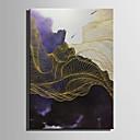 baratos Almofadas de Decoração-Pintura a Óleo Pintados à mão - Abstrato Modern / Estilo Europeu Tela de pintura / Lona Laminada