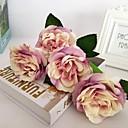 abordables Plantas Artificiales-Flores Artificiales 5 Rama Estilo europeo Rosas Flor de Mesa