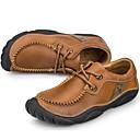 abordables Grifos de Lavabo-Hombre Los zapatos de cuero Cuero de Napa Primavera / Otoño Confort Oxfords Marrón Claro / Fiesta y Noche