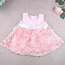abordables Vestidos para Bebés-Bebé Chica De Encaje / Lazo Un Color / Floral Sin Mangas Algodón Vestido