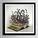 tanie Sztuka oprawiona-Oprawione płótno Zestaw w oprawie Zwierzęta Kaprys Wall Art, PVC (polichlorek winylu) Materiał z ramą Dekoracja domowa rama Art Living