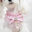 preiswerte Hundekleidung-Katze Hund Halsbänder Modisch Schleife Spitze Stoff Schwarz Rosa