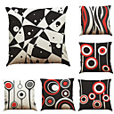 cheap Pillow Covers-6 pcs Linen Pillow Case Pillow Cover, Solid Geometric Textured Beach Style Bolster Traditional/Classic