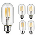 cheap LED Bulbs-5pcs 4W 360lm lm E26/E27 LED Filament Bulbs T45 4pcs LED Beads COB Decorative Warm White Cold White 220-240V