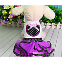 cheap Dog Clothes-Dog Dress Dog Clothes Princess Purple Red Cotton Costume For Pets Men's Women's Cute Casual/Daily Fashion