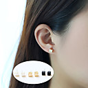 cheap Earrings-Women's Stud Earrings - Basic Gold / Black / Silver For Party / Daily / Casual
