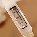 billige Trendy klokker-Dame Armbåndsur Keramikk Band Mote Gylden