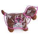 baratos Roupas para Cães-Gato / Cachorro Capa de Chuva Roupas para Cães Sólido Branco / Rosa / Azul Plástico Ocasiões Especiais Para animais de estimação Verão Casual / Reversível