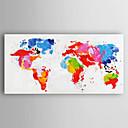 billige Dyremalerier-Håndmalte Abstrakt Horisontal,Moderne Et Panel Lerret Hang malte oljemaleri For Hjem Dekor