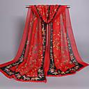 お買い得  ファッションスカーフ-女性用 プリント キュート シフォン 長方形