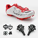 voordelige Wielrenschoenen-SIDEBIKE Volwassenen Fietsschoenen met pedalen & schoenplaten / Mountainbikeschoenen Nylon Opvulling Wielrennen Red and White Heren