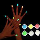 baratos Glitter para Unhas-1box Glitter & Poudre Clássico / Brilha-no-Escuro Diário